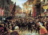 Danish military history. The army returns victorious 1850